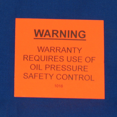 LBL-1016 Warranty Warning Label