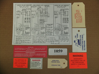 KIT-1059 Label Kit; 4R, 6R, 8R TSK-TSN Models