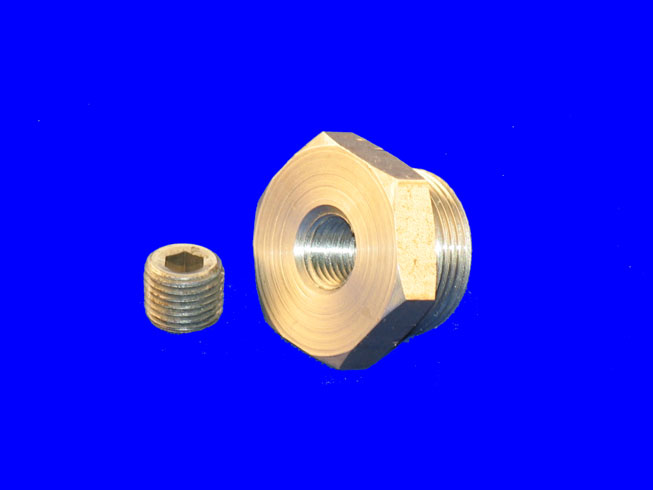 "PLU-1723 Drain Plug; 1"" with 1/4 Pipe Plug Access"