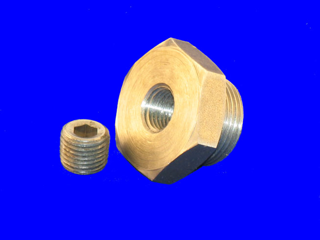 "PLU-1724 Drain Plug; 1-1/8"" with 1/4 Pipe Plug Access"