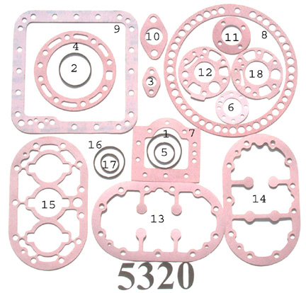KIT-5320 Gasket Kit; 9D R/N 998-1669-02 (Made in the USA)