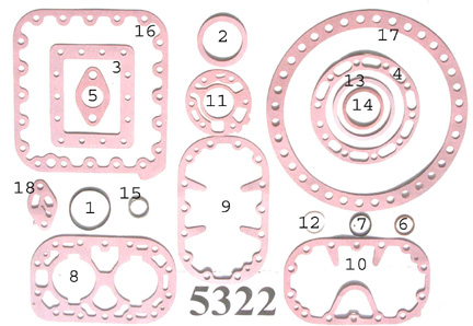 KIT-5322 Gasket Kit; 8D Models R/N 998-1669-05