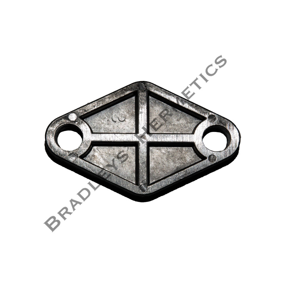 BOF-406 Shipping or Block Off Plate ; Aluminum